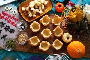 ハロウィン用かぼちゃのモンブランカップタルト