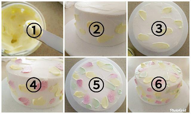 ひな祭りケーキのデコレーション